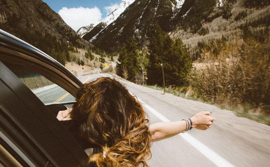 viaje en coche en verano